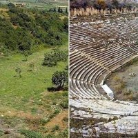 Stunning Before and After of an Ancient Greek Stadium Excavation