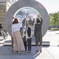 Portals Built in Lithuania and Poland To Let People See Each Other in Real Time
