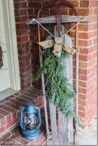 The Rustic Christmas Porch