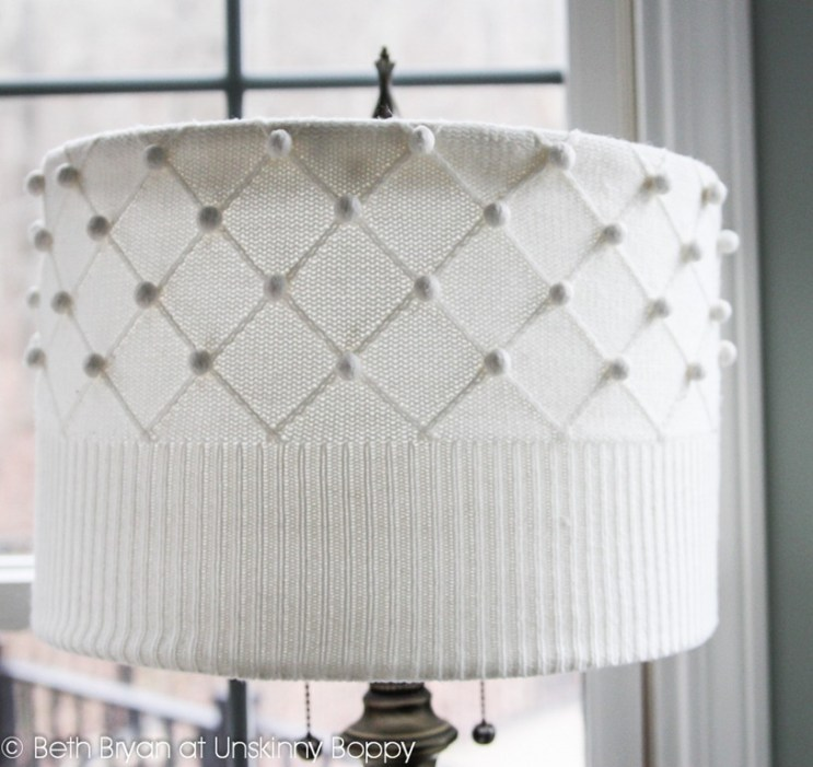 DIY Sweater turned into a lampshade