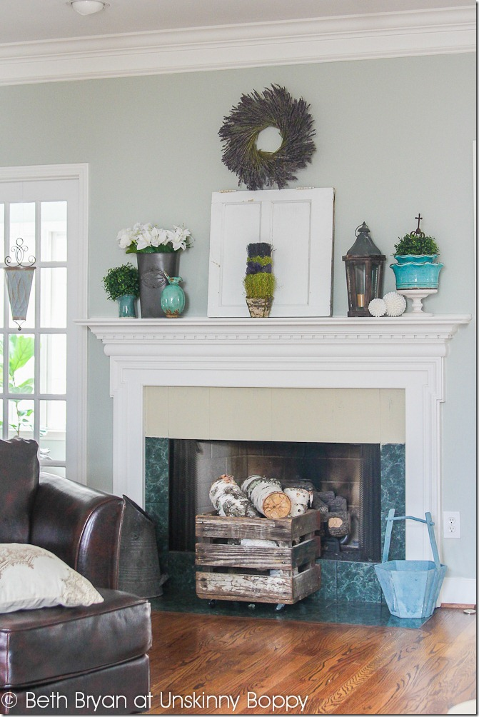 Spring mantel Decorating and a Fireplace WWYD  Unskinny Boppy