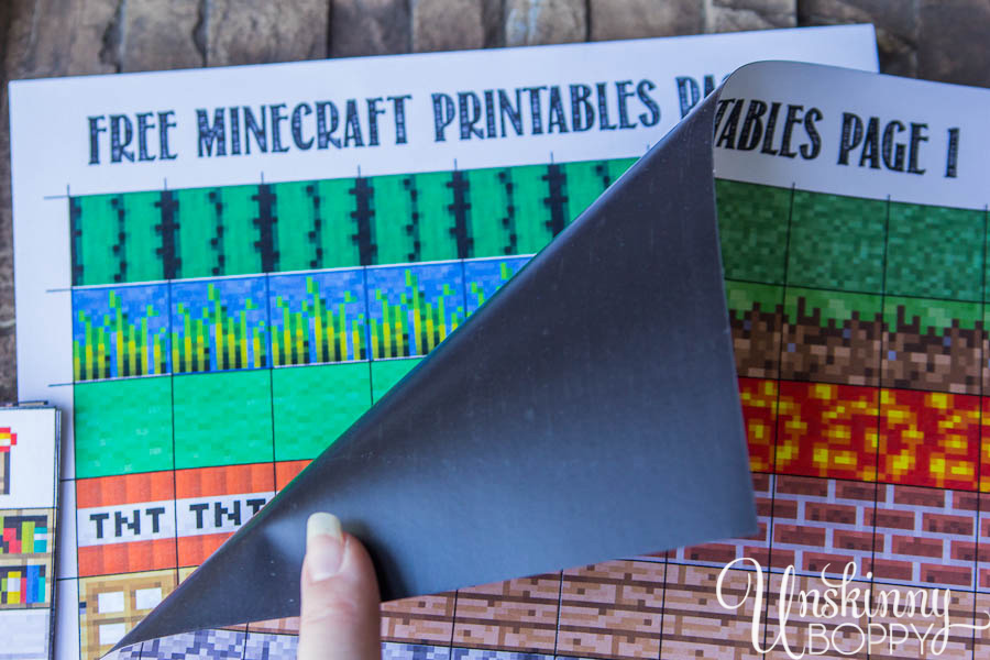 Minecraft Magnets Make Your Own Free Printable Unskinny Boppy