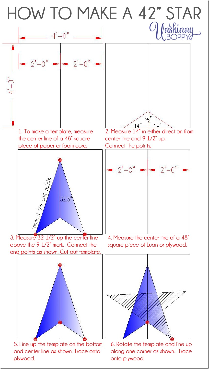 medium resolution of how to make a 42 inch star template