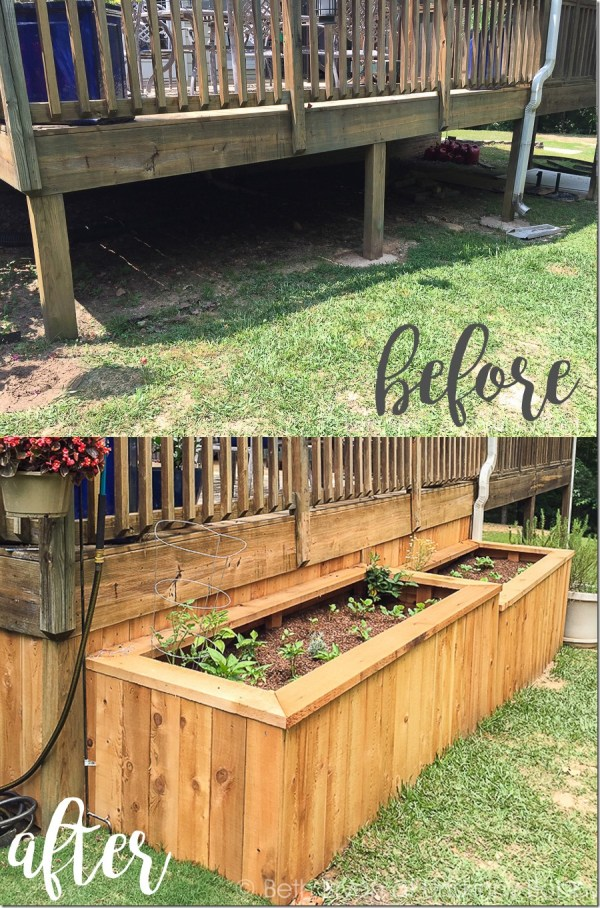 backyard makeover with raised