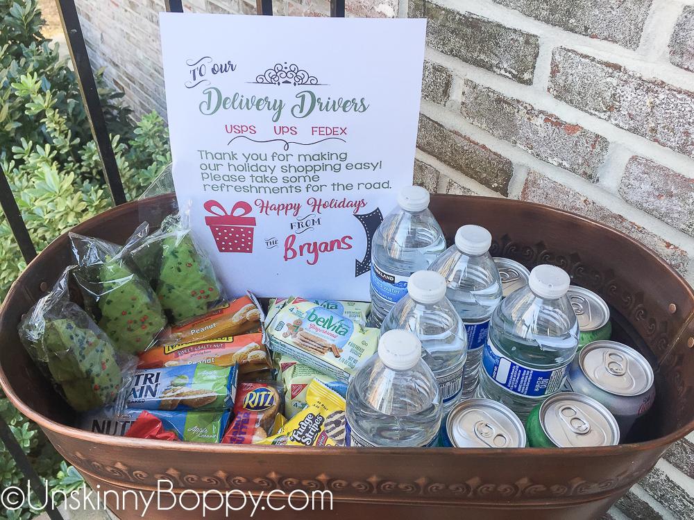 Delivery Driver Porch Snacks Free Printable Unskinny Boppy