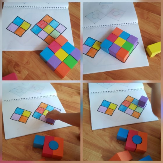construcții cub și romb