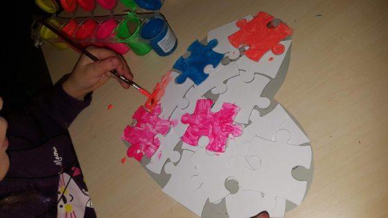 puzzle colorat