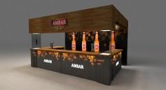 unsoloboton - Diseño barra portatil para Cerveza Ambar