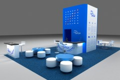 unsoloboton - render - diseño stand sese
