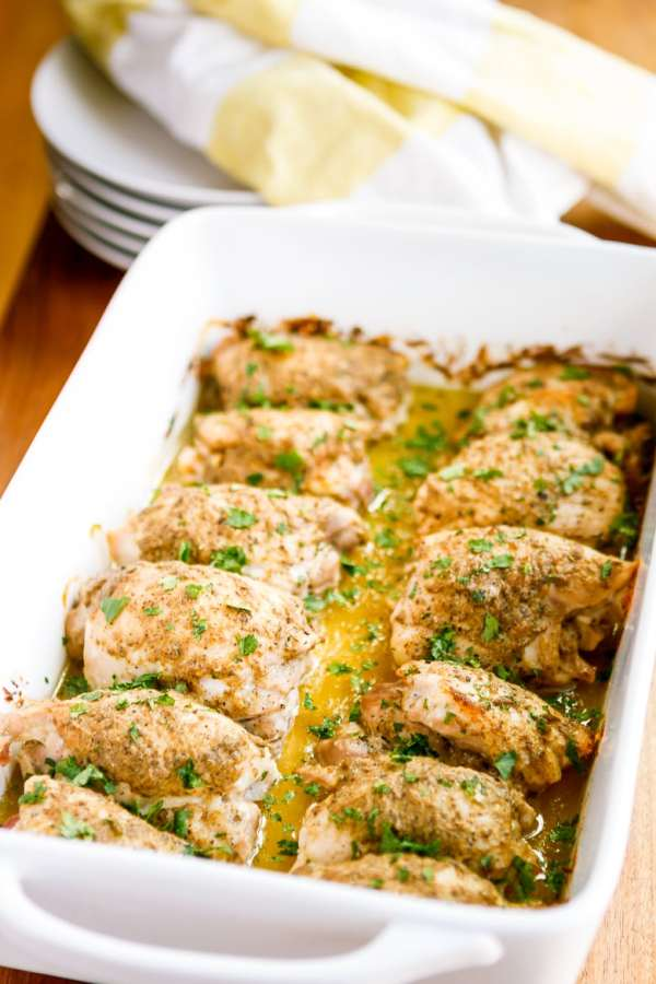 30Minute MustardGlazed Oven Baked Chicken Thighs