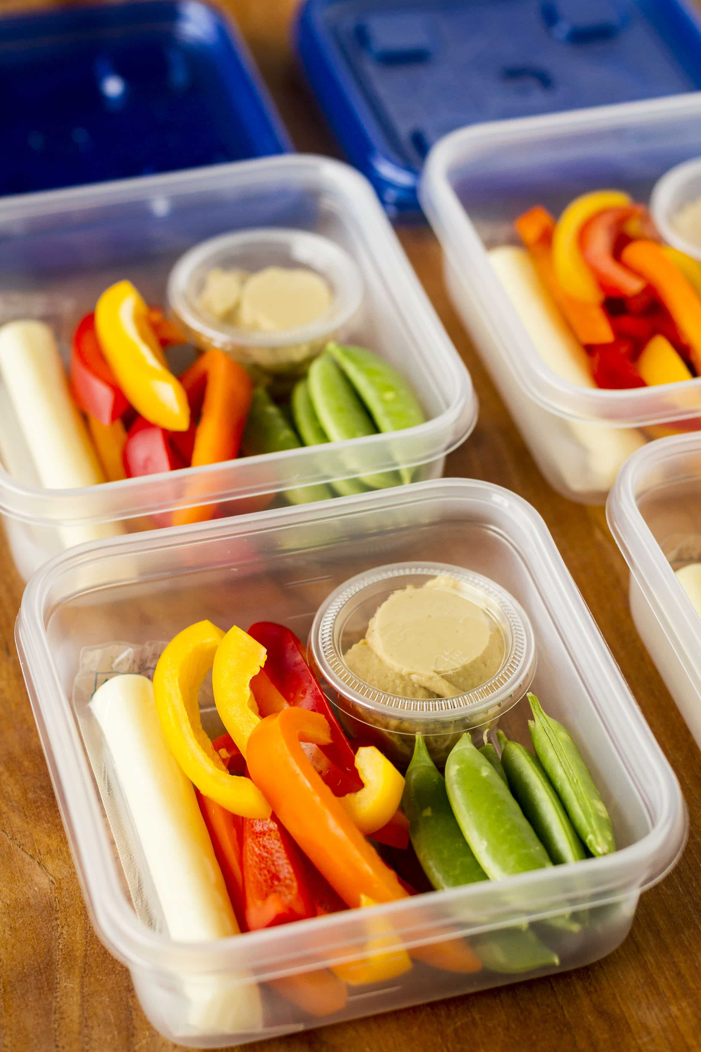 Hummus Snack Idea | Veggies & Hummus Snack Box ...