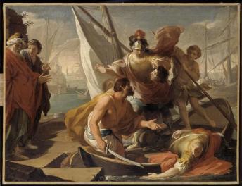 Gandolfi Gaetano, La Mort de Pompée, Musée Magnin, Dijon, XVIIIe.jpg