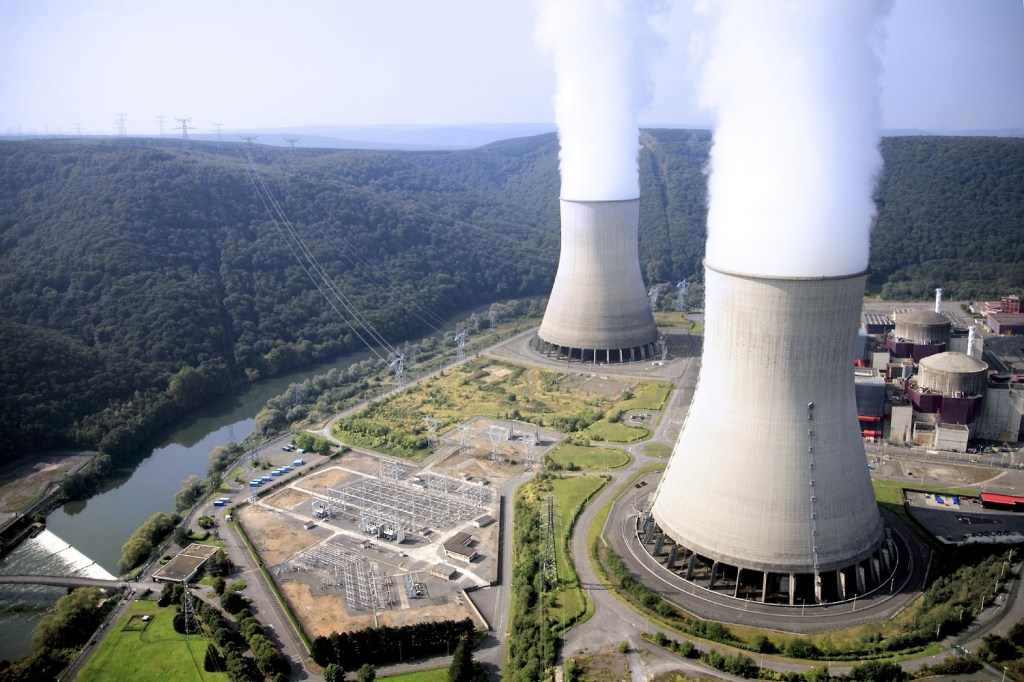 beautiful nuclear power plant