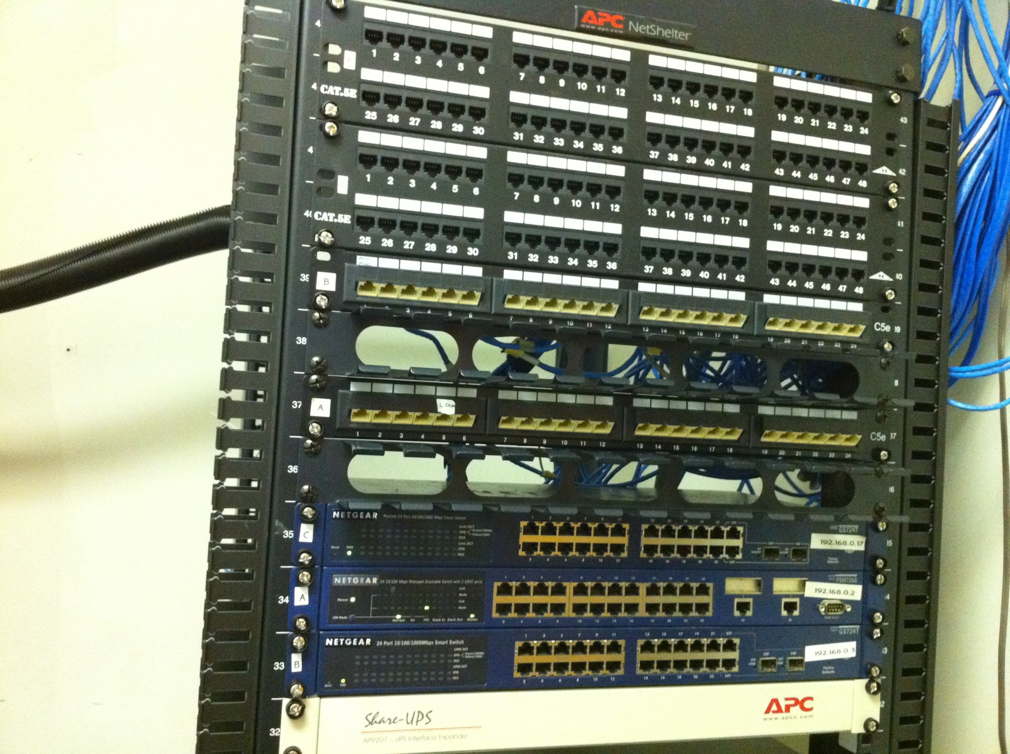 hight resolution of re wiring network rack