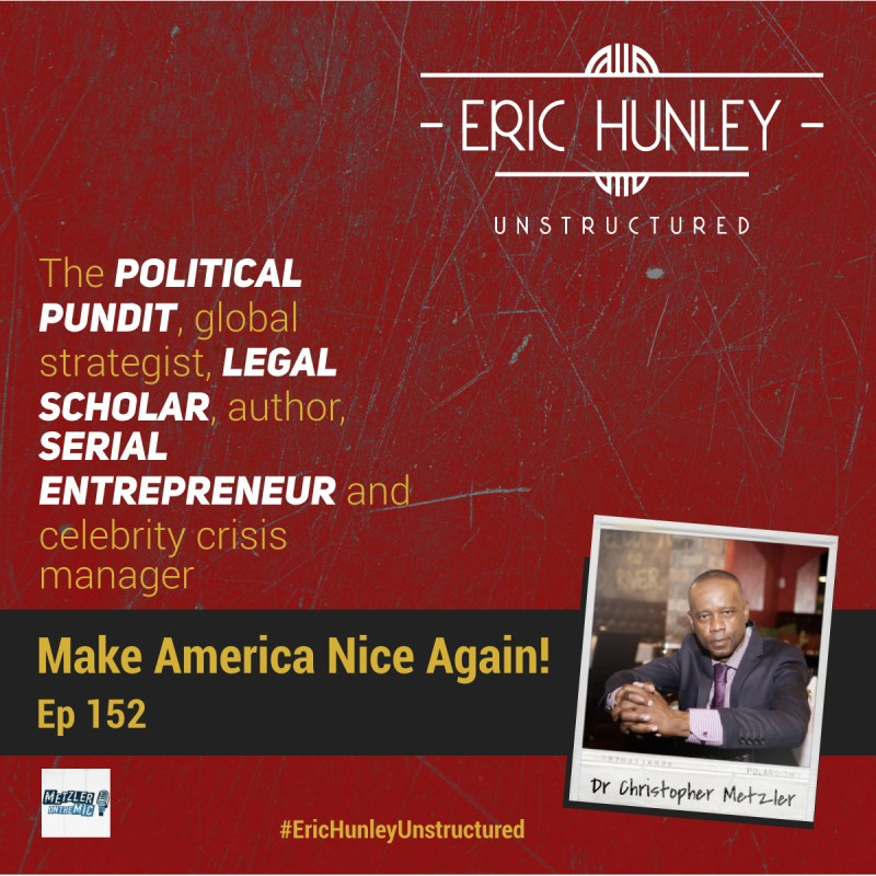 Eric Hunley Unstructured Podcast - 152 Dr Christopher Metzler Square Post