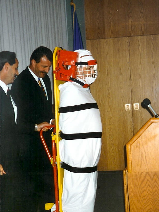 Kenneth Lanning Impersonating Hannibal Lecter during John Douglas' Retirement Party, 1995