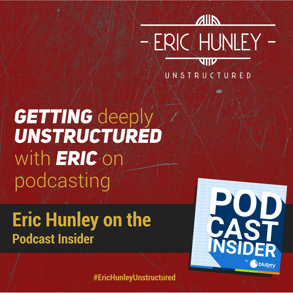 Eric Hunley Podcast Appearance Interviews - Podcast Insider Square Post