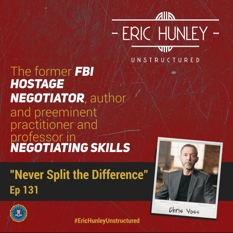 Eric Hunley Unstructured Podcast - 131 Chris Voss Square Post