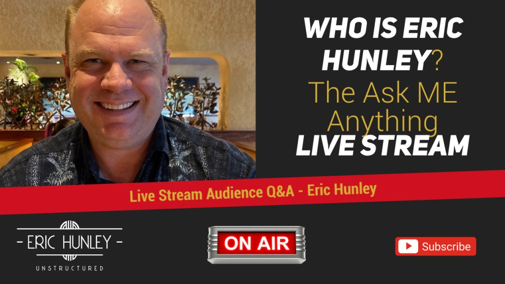 Eric Hunley Unstructured Live Stream Interviews - Eric Hunley YouTube Thumbnail
