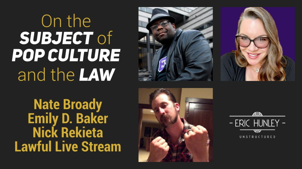 Eric Hunley Unstructured Live Stream Interviews - Emily D Baker, Nate Broady, and Nick Rekieta YouTube Thumbnail