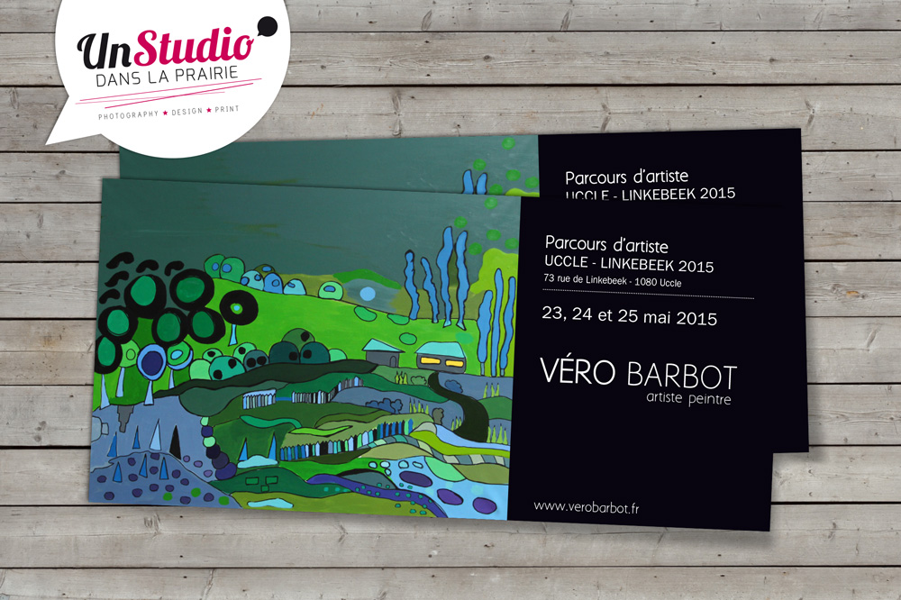 Client : Artiste Véro Barbot // Conception invitation exposition