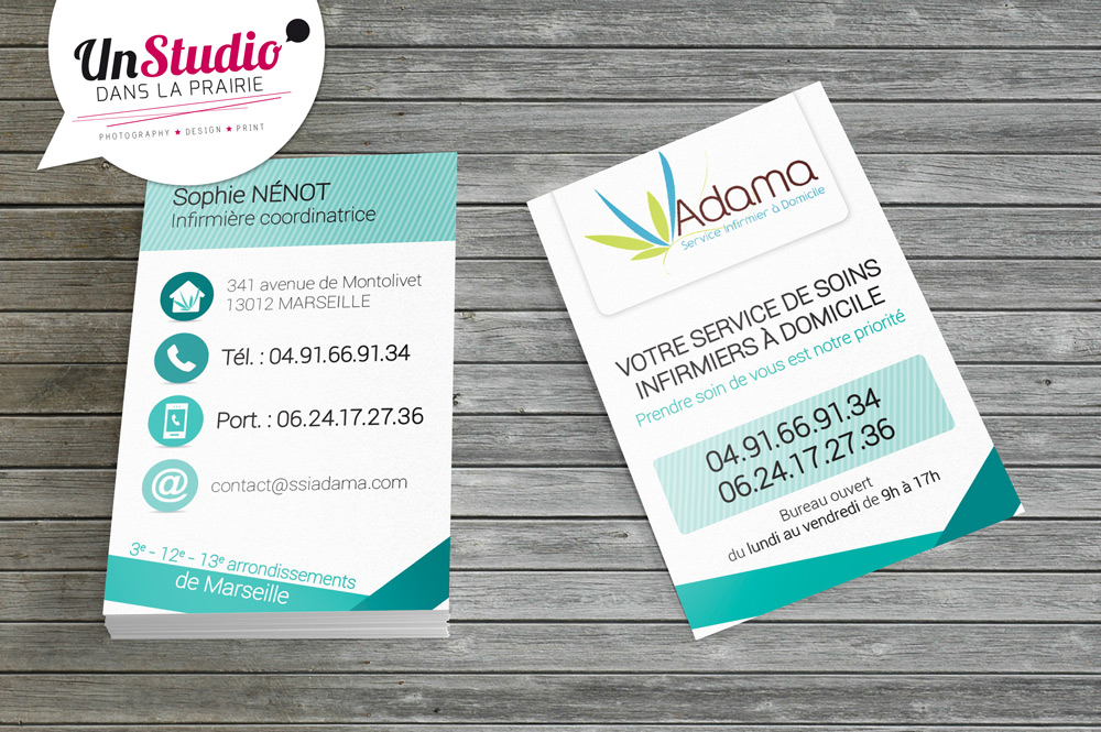 Client : Adama // Conception carte de visite