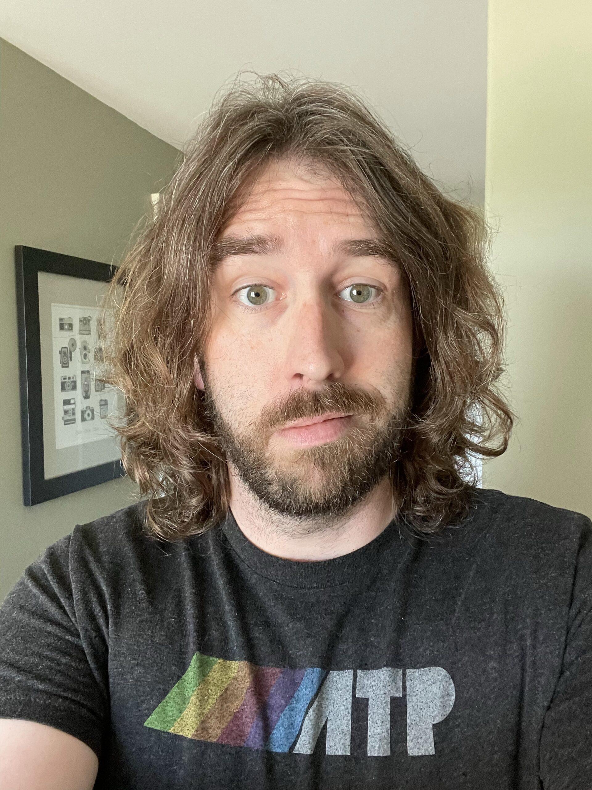 Pre haircut long hair