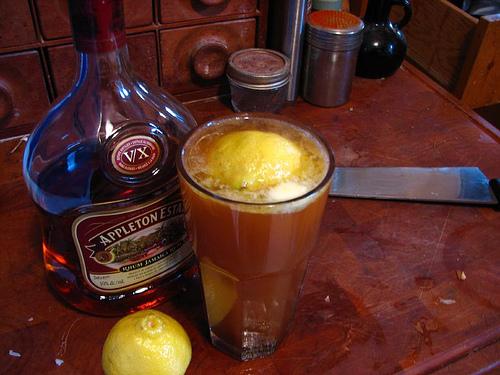 Making Rum Toddy