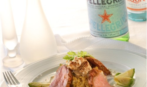 S. Pellegrino food shot
