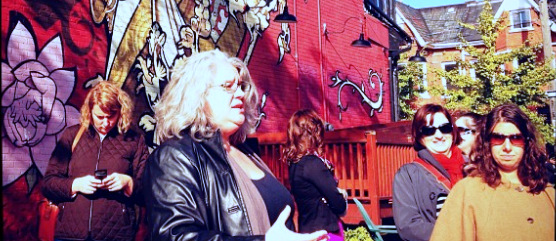 Alexa Clark leading Blissdom's Ultimate Foodie Excursion