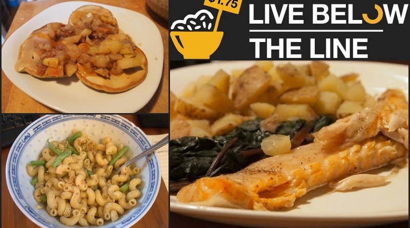 Live Below the Line - Day 1 Food