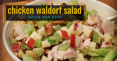 Quick and easy Chicken Waldorf Salad