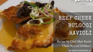 Matt Basile's Beef Cheek Bulgogi Ravioli