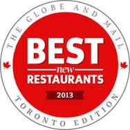 GlobeMail - best restaurants in TO 2013