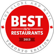 GlobeMail - best restaurants in TO 2013
