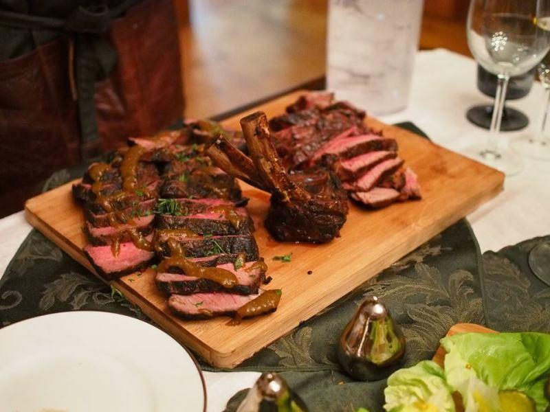 reverse sear prime rib - tomahawk steak