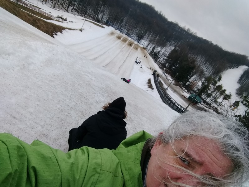 Tubing at Horseshoe Resort - trepidation