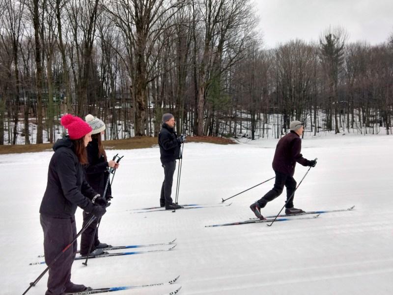 cross country skiing at Horseshoe resort (1)