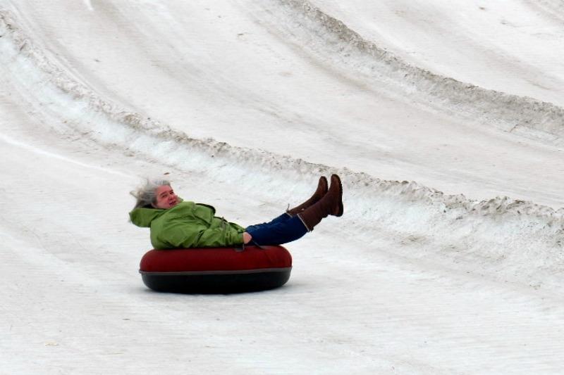 snow tubing horseshoe alexa - by Julie Height