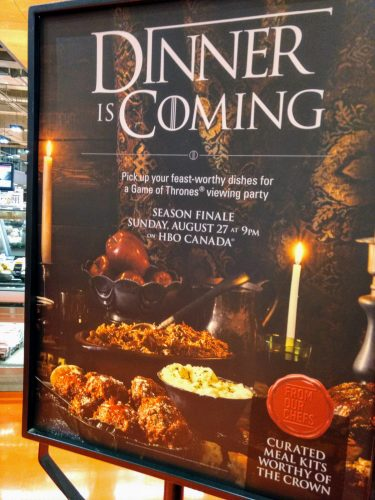 Loblaws Dinner is Coming Game of Thrones