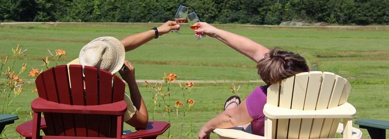 enjoying cranberry wine