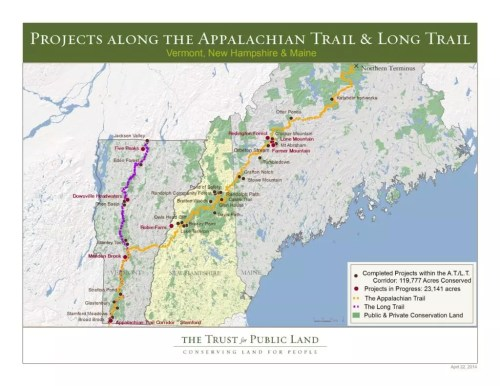 Appalachian Trail In Maine Map.The Appalachian Trail At Untamed Mainer