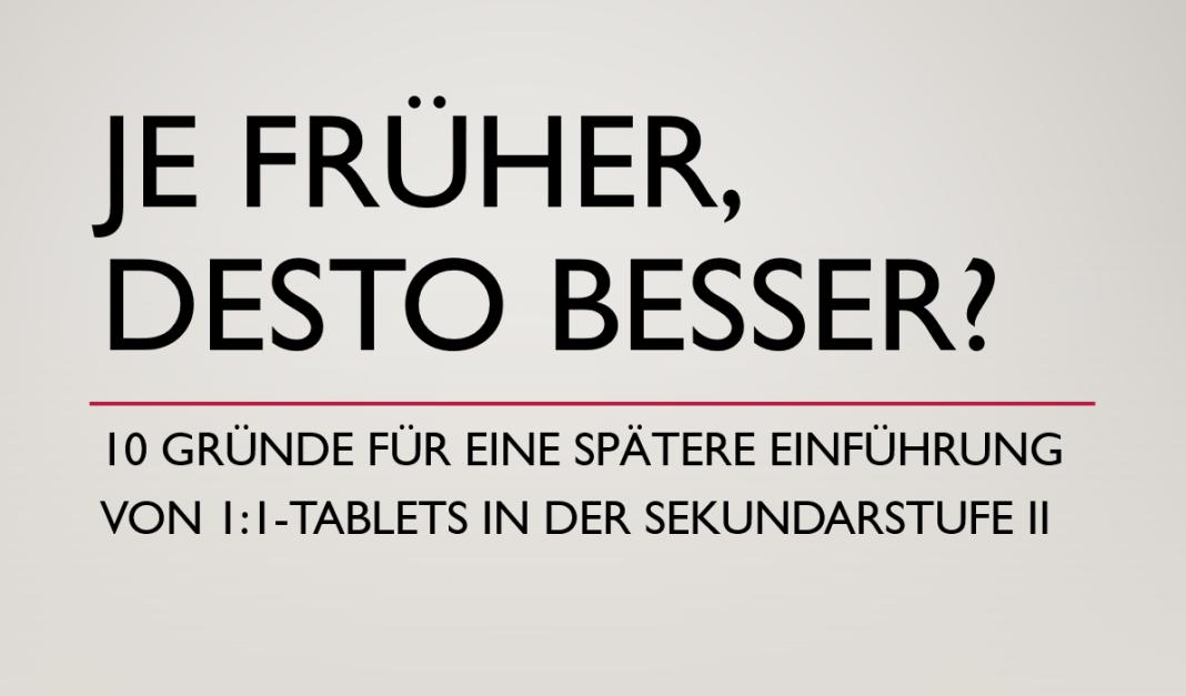 Einführung Tablet / iPad in der Schule