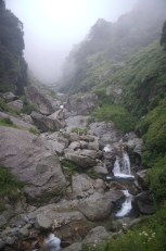 Wasserfall im Regen
