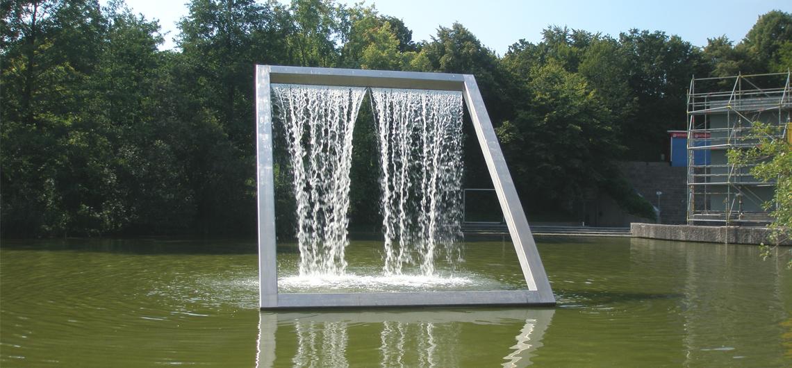 Wasserfall Westpark