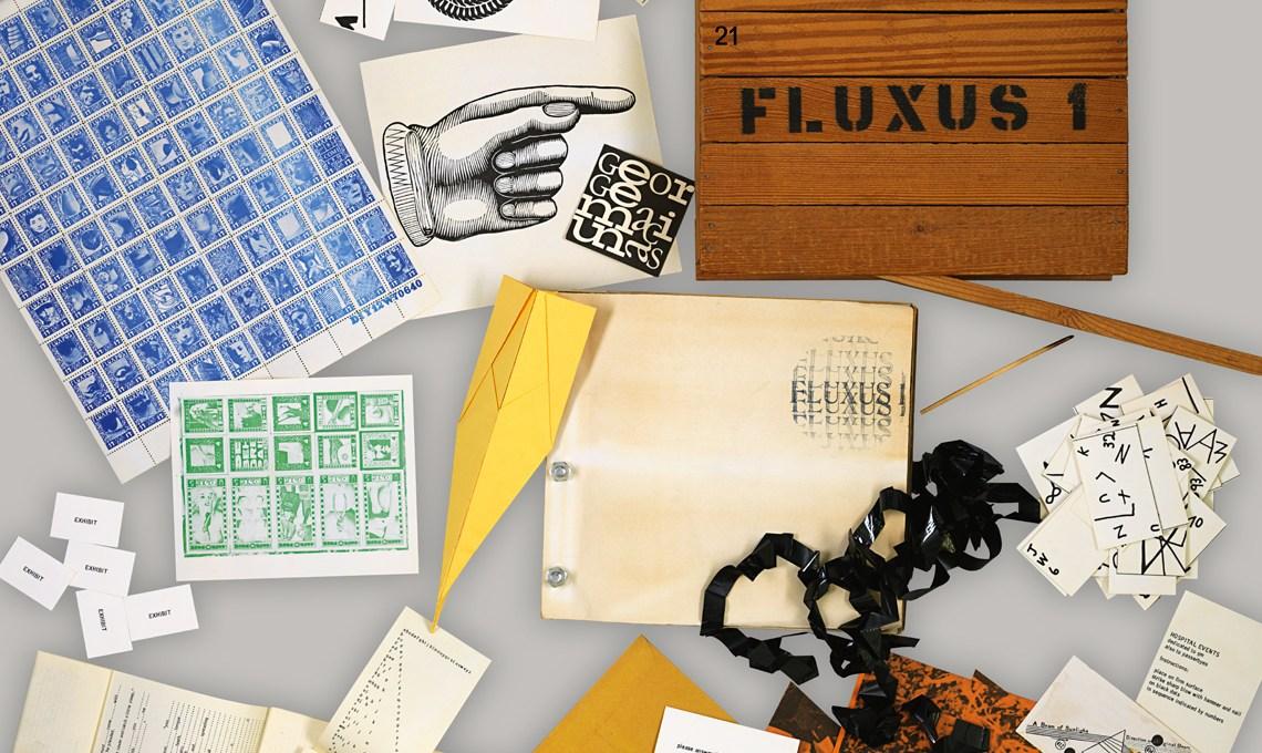 George Maciunas: Fluxus 1, 1964 showcase unterwegsinsachenkunst