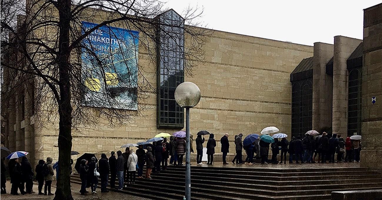neue Pinakothek vor der Schließung