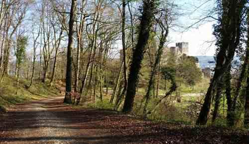 Wanderweg zur Burg Rötteln