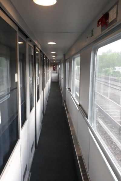 Innenansicht Flixtrain Nachtzug Flixnight Hamburg-Lörrach