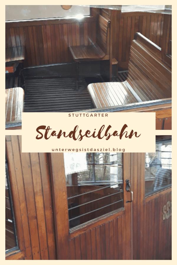 Detail der Holzkabine standseilbahn Stuttgart, historisch steht unter Denkmalschutz